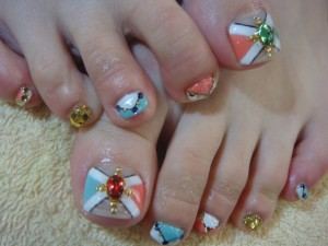 ビジューfoot nail