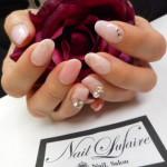 ピンク大理石&ビジューパーツのサムネイル